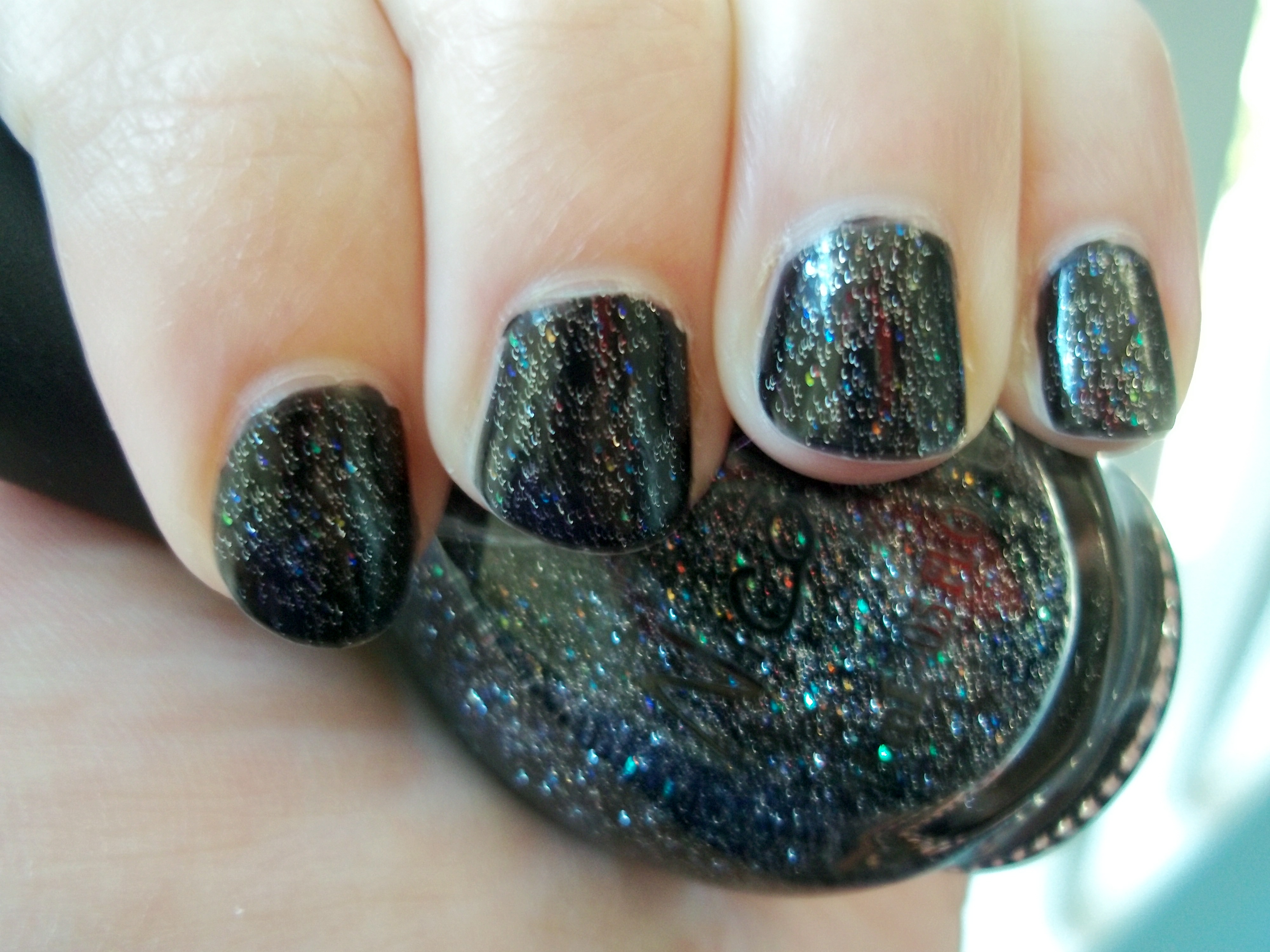 Nicole by OPI: Pitch-Black Glimmer (over Black) | DEATH BY POLISH ...